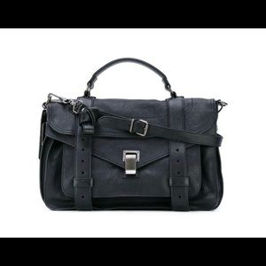 Proenza Schouler PS1 size medium in black.